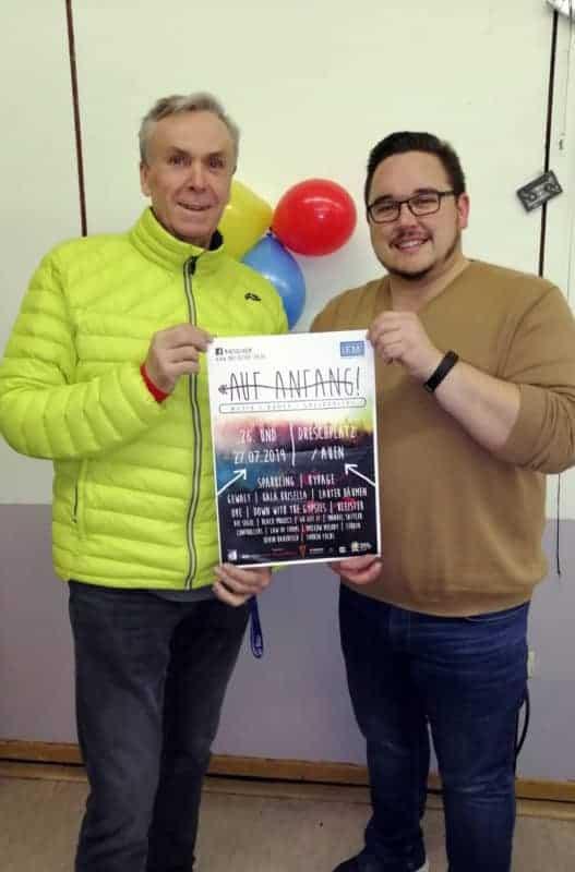 Bruno Schneider (Geschäftsführer Schneider Bau Gruppe) und Manuel Skär (IFM e.V.) © IFM
